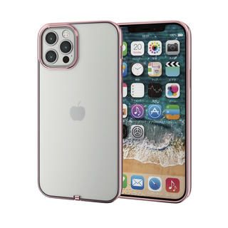 iPhone 12 / iPhone 12 Pro (6.1インチ) ケース iPhoneケース サイドカラー 耐衝撃 TPU 背面 ローズゴールド iPhone 12/iPhone 12 Pro