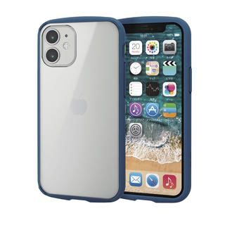iPhone 12 mini (5.4インチ) ケース iPhoneケース フレームカラー 耐衝撃 TPU 背面 ネイビー iPhone 12 mini