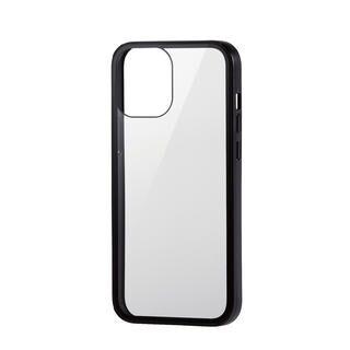 iPhone 12 Pro Max (6.7インチ) ケース iPhoneケース フルカバー 背面ガラス ガラスフィルム ブラック iPhone 12 Pro Max