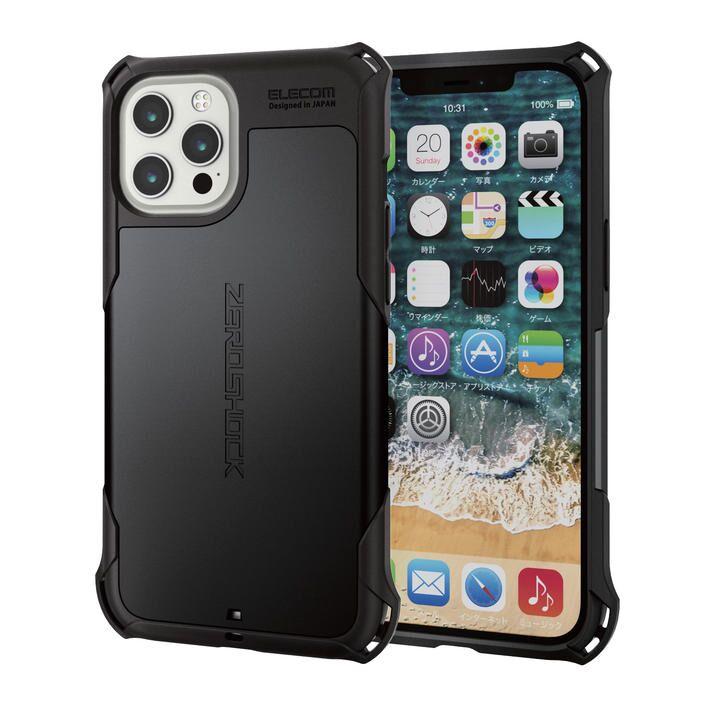 iPhoneケース ゼロショック ZEROSHOCK 耐衝撃 TPU ブラック iPhone 12 Pro Max_0