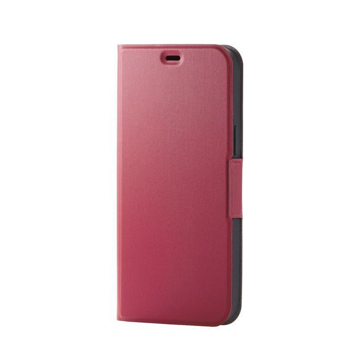 iPhoneケース 手帳 フラップ レザー 薄型 ウルトラスリムタイプ レッド iPhone 12 Pro Max_0