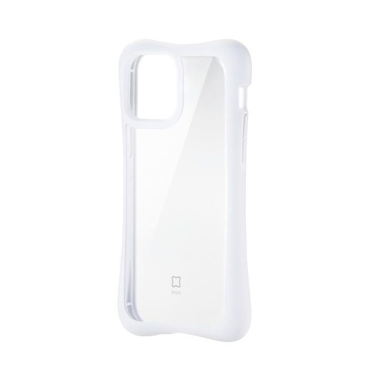 iPhoneケース 耐衝撃 横向き TPU 持ちやすい クリアホワイト iPhone 12/iPhone 12 Pro_0