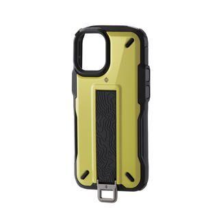 iPhone 12 mini (5.4インチ) ケース iPhoneケース NESTOUT 手帳 フラップ 耐衝撃 ライムイエロー iPhone 12 mini