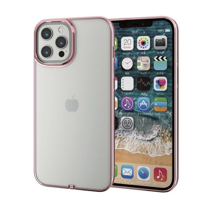 iPhoneケース サイドカラー 耐衝撃 TPU 背面 ローズゴールド iPhone 12 Pro Max_0