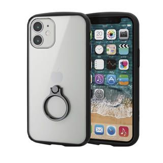 iPhone 12 mini (5.4インチ) ケース iPhoneケース フレームカラー スマホリング 耐衝撃 TPU ブラック iPhone 12 mini