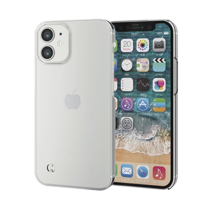 iPhoneケース シェルケース ポリカーボネート 薄型 クリア ストラップホール iPhone 12 mini_0