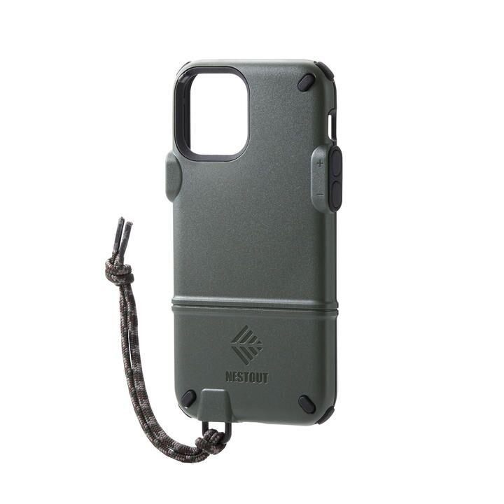iPhoneケース NESTOUT トレッキング 登山 アウトドア オリーブ iPhone 12/iPhone 12 Pro_0