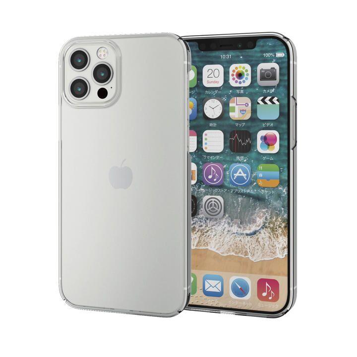 iPhoneケース シェルケース ポリカーボネート 薄型 極薄クリア  iPhone 12/iPhone 12 Pro_0