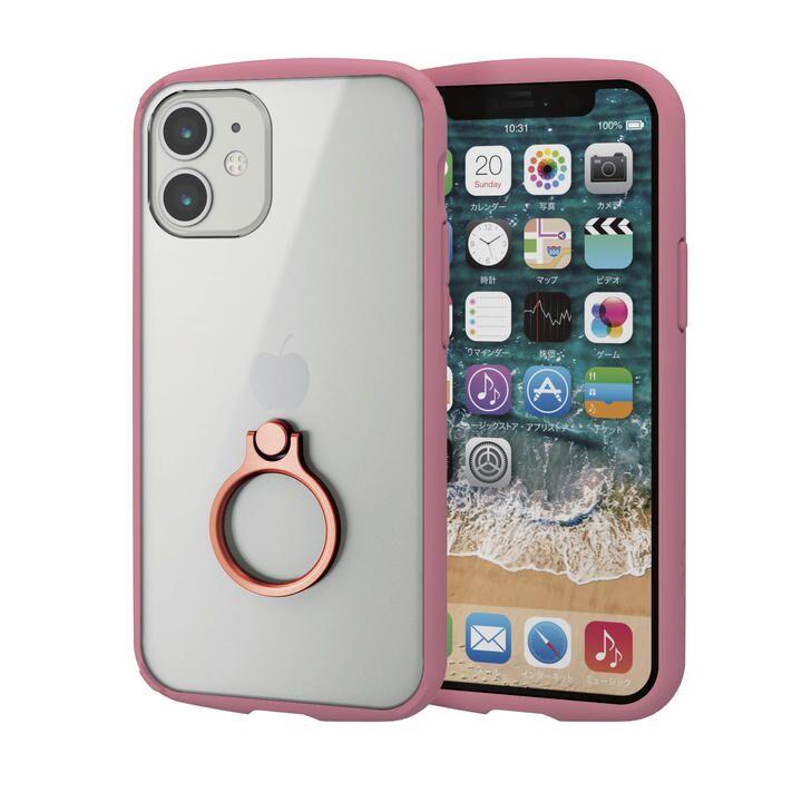iPhoneケース フレームカラー スマホリング 耐衝撃 TPU ピンク iPhone 12 mini_0