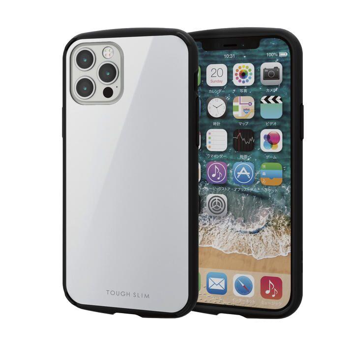 iPhoneケース 耐衝撃 TPU 背面 ポリカーボネート ホワイト iPhone 12/iPhone 12 Pro_0