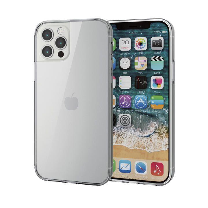 iPhoneケース 耐衝撃 TPU 背面ガラス 硬度9H  iPhone 12/iPhone 12 Pro_0