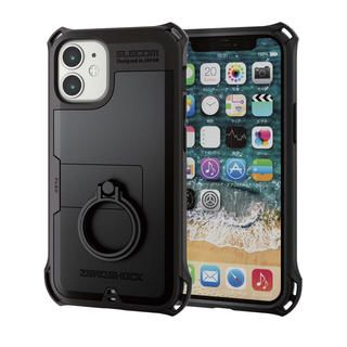 iPhone 12 mini (5.4インチ) ケース iPhoneケース ゼロショック ZEROSHOCK 耐衝撃 TPU リング ブラック iPhone 12 mini