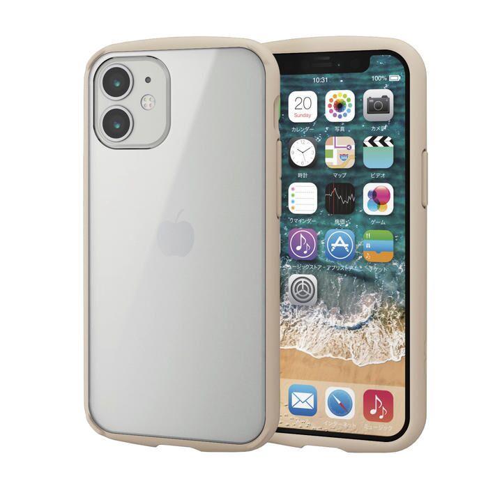 iPhoneケース フレームカラー 耐衝撃 TPU 背面 アイボリー iPhone 12 mini_0