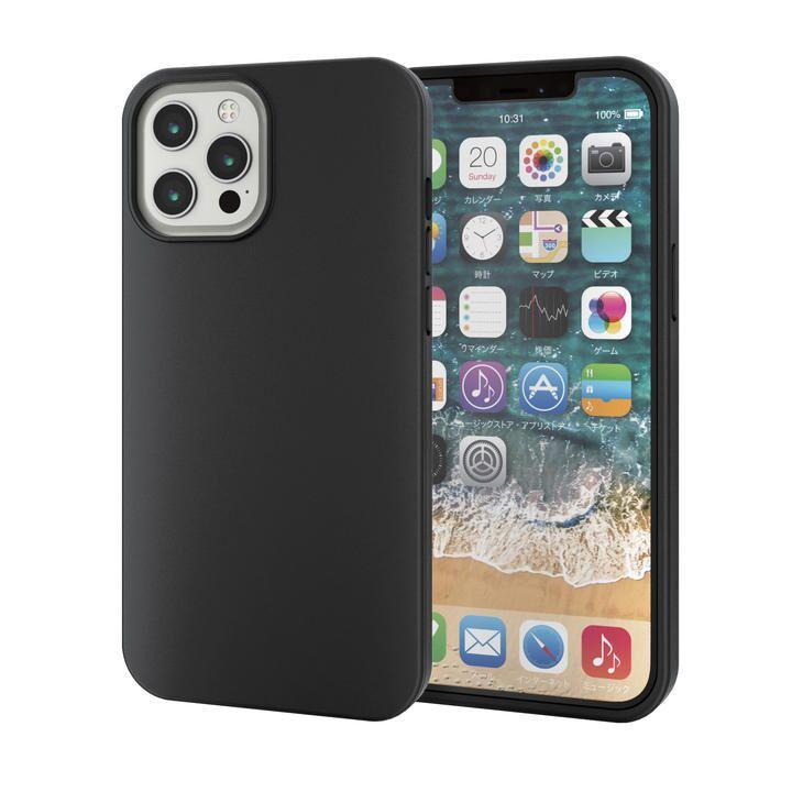 iPhoneケース フルカバー ポリカーボネート ガラスフィルム ブラック iPhone 12 Pro Max_0