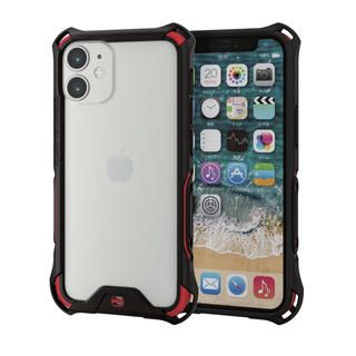 iPhone 12 mini (5.4インチ) ケース iPhoneバンパー ゼロショック ZEROSHOCK 耐衝撃 TPU レッド iPhone 12 mini