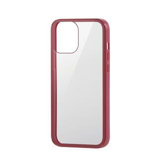 iPhone 12 Pro Max (6.7インチ) ケース iPhoneケース フルカバー 背面ガラス ガラスフィルム レッド iPhone 12 Pro Max