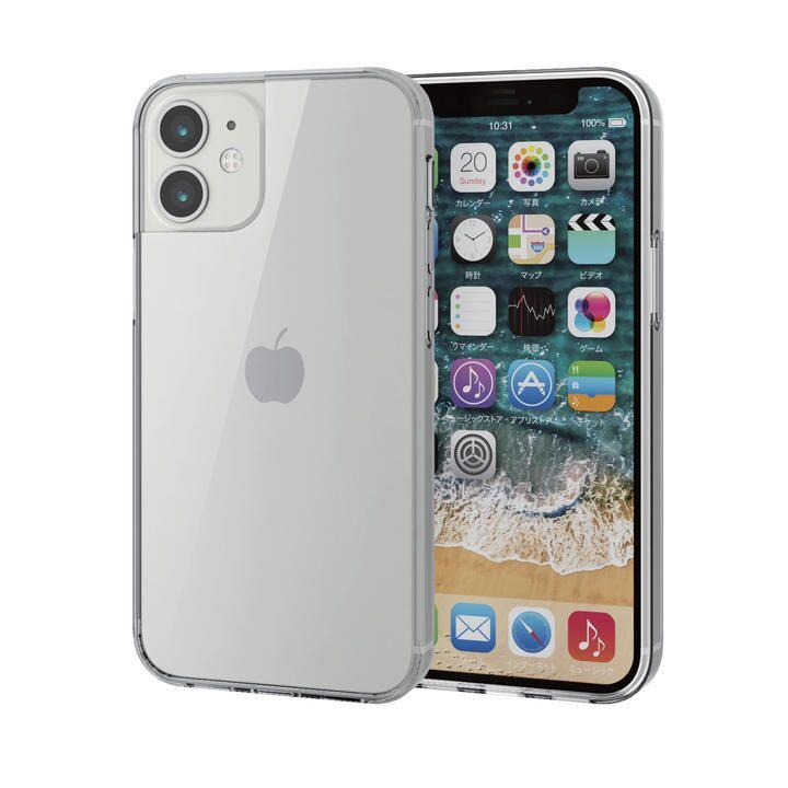 iPhoneケース 耐衝撃 TPU 背面ガラス 硬度9H  iPhone 12 mini_0