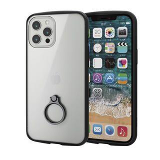iPhone 12 Pro Max (6.7インチ) ケース iPhoneケース フレームカラー リング 耐衝撃 TPU ブラック iPhone 12 Pro Max