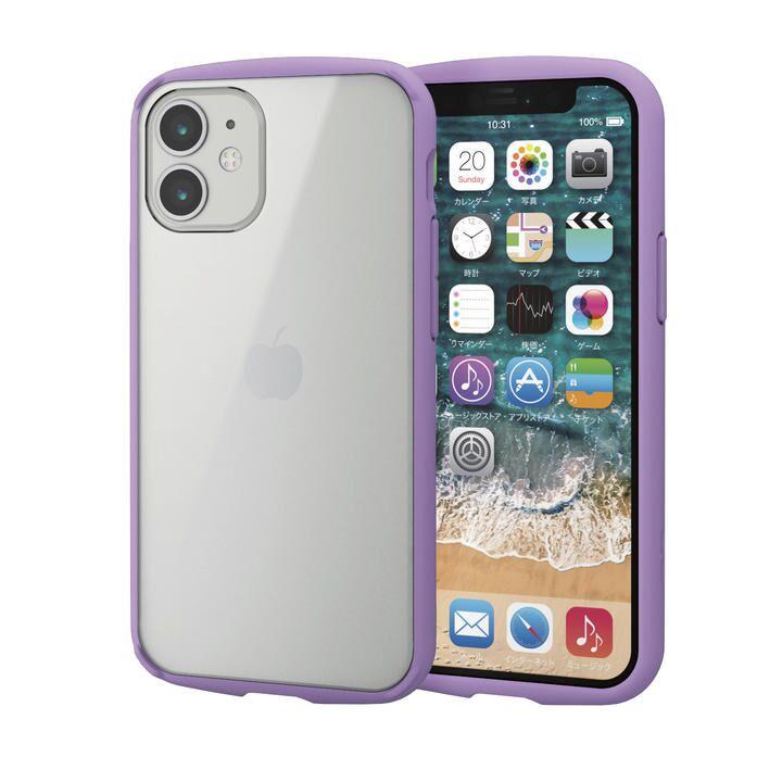 iPhoneケース フレームカラー 耐衝撃 TPU 背面 パープル iPhone 12 mini_0