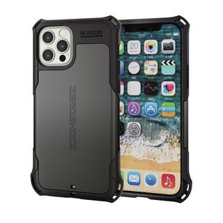iPhone 12 / iPhone 12 Pro (6.1インチ) ケース iPhoneケース ゼロショック ZEROSHOCK 耐衝撃 TPU ガンメタリック iPhone 12/iPhone 12 Pro