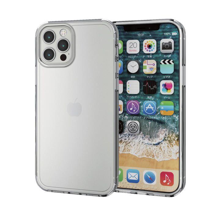 iPhoneケース 耐衝撃 シリコン ポリカーボネート クリア iPhone 12/iPhone 12 Pro_0