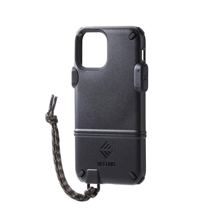 iPhoneケース NESTOUT トレッキング 登山 アウトドア ブラック iPhone 12/iPhone 12 Pro_0