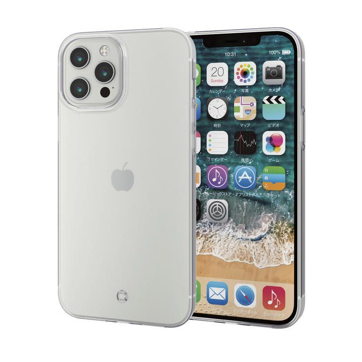 iPhoneケース 耐衝撃 TPU マイクロドット加工 ストラップホール付き  iPhone 12 Pro Max_0