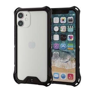 iPhone 12 mini (5.4インチ) ケース iPhoneバンパー ゼロショック ZEROSHOCK 耐衝撃 TPU ブラック iPhone 12 mini