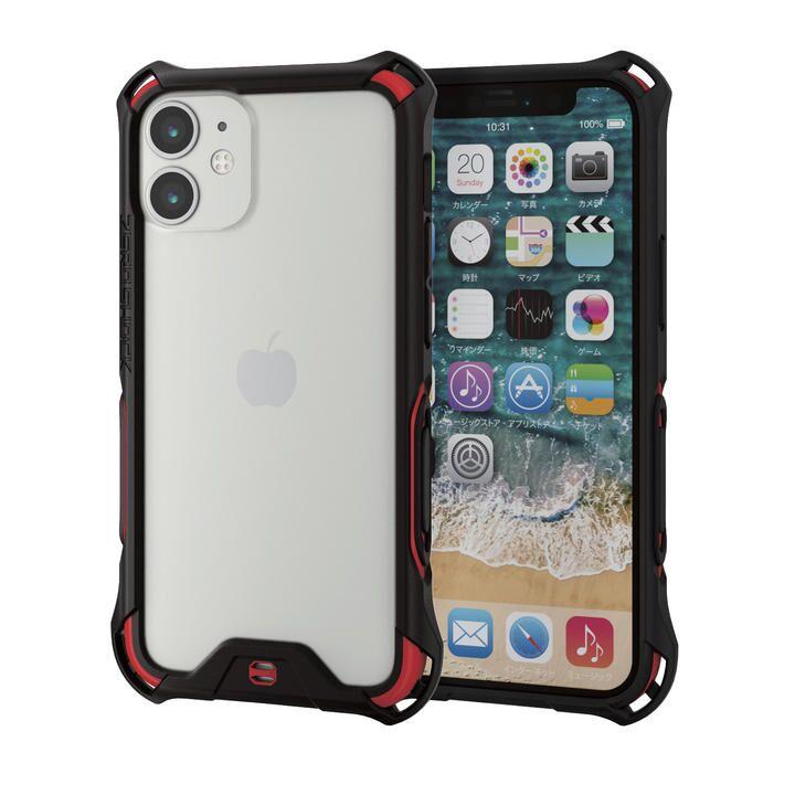 iPhoneバンパー ゼロショック ZEROSHOCK 耐衝撃 TPU レッド iPhone 12 mini_0