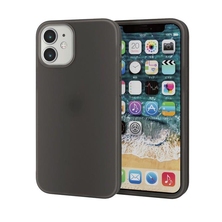 iPhoneケース シリコンケース 持ちやすい ブラック iPhone 12 mini_0