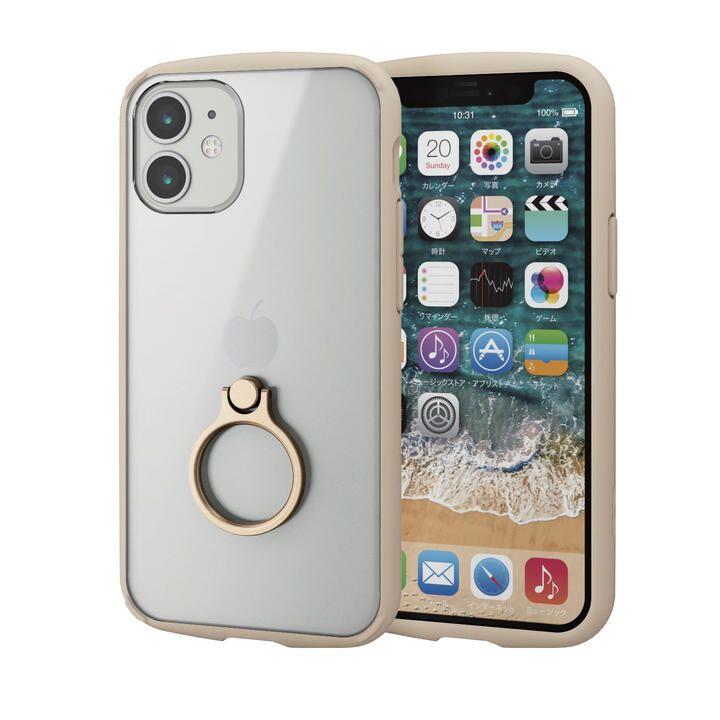 iPhoneケース フレームカラー スマホリング 耐衝撃 TPU アイボリー iPhone 12 mini_0