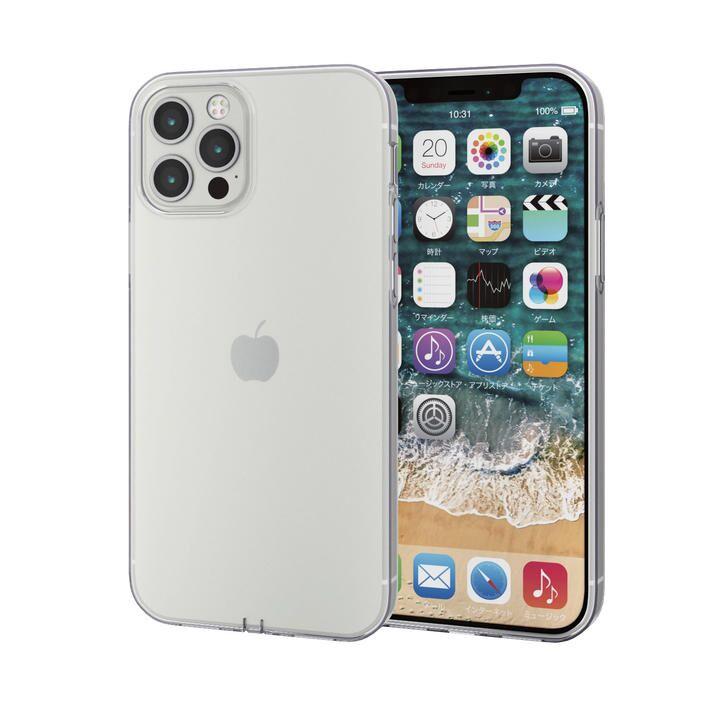 iPhoneケース 耐衝撃 TPU マイクロドット加工 ストラップホール  iPhone 12/iPhone 12 Pro_0