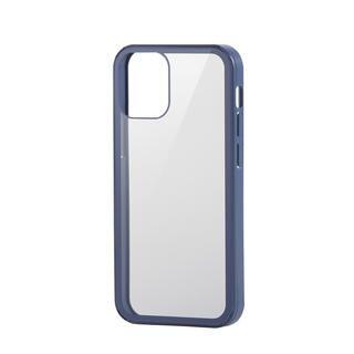 iPhone 12 mini (5.4インチ) ケース iPhoneケース フルカバー 背面ガラス ガラスフィルム ブルー iPhone 12 mini