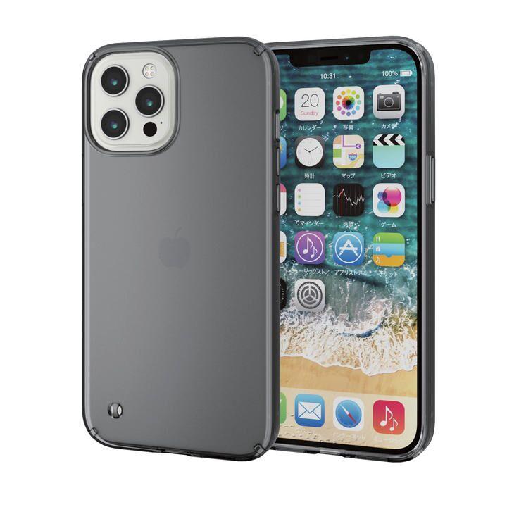 iPhoneケース 耐衝撃 ポリカーボネート TPU ブラック iPhone 12 Pro Max_0