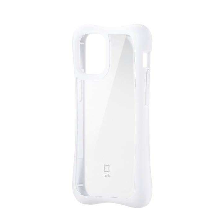 iPhoneケース 耐衝撃 横向き TPU 持ちやすい クリアホワイト iPhone 12 mini_0