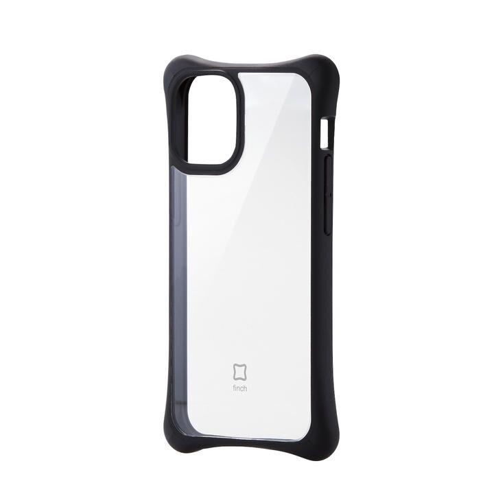iPhoneケース 耐衝撃 自然な持ち心地 TPU 持ちやすい クリアブラック iPhone 12 mini_0
