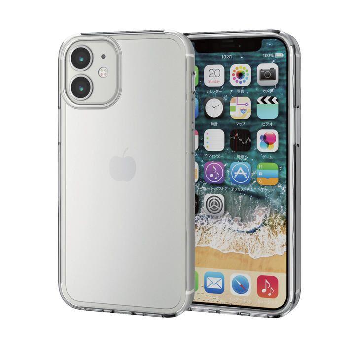 iPhoneケース 耐衝撃 シリコン ポリカーボネート クリア iPhone 12 mini_0