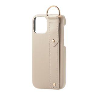 iPhone 12 / iPhone 12 Pro (6.1インチ) ケース iPhoneケース レザー ベルト 落下防止 ストラップホルダー ベージュ iPhone 12/iPhone 12 Pro