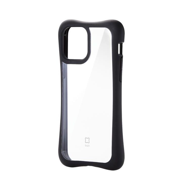 iPhoneケース 耐衝撃 横向き TPU 持ちやすい クリアブラック iPhone 12/iPhone 12 Pro_0