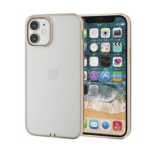 iPhone 12 mini (5.4インチ) ケース iPhoneケース サイドカラー 耐衝撃 TPU 背面 ゴールド iPhone 12 mini