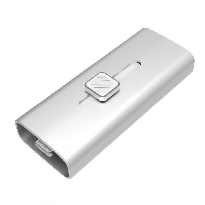 アルミボディXスライド式 Lightning&USBメモリー 64GB_0