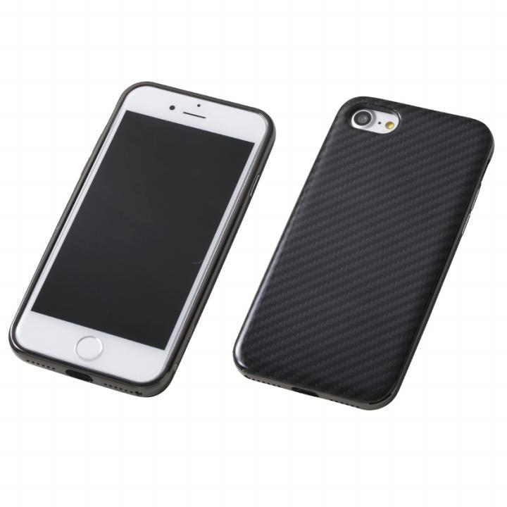 【iPhone8/7ケース】Deff ケブラー & アルミケース UNIO ブラック/ブラック iPhone 8/7_0