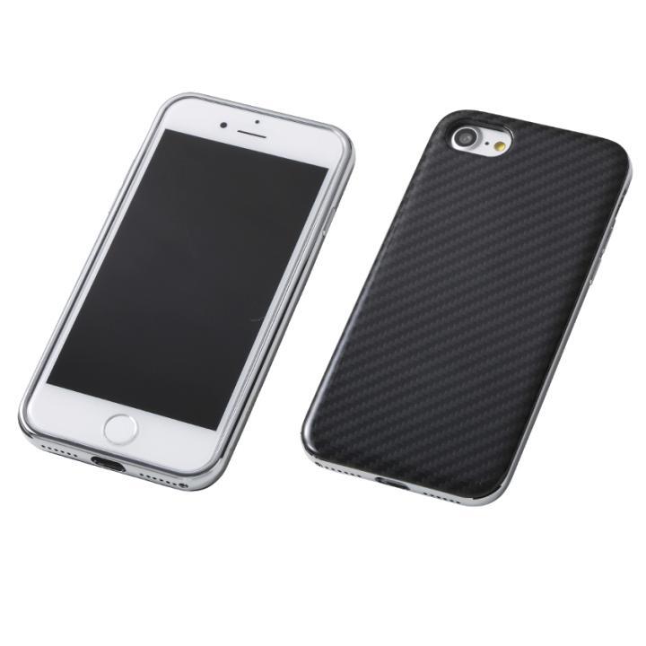 Deff ケブラー & アルミケース UNIO ブラック/シルバー iPhone 7