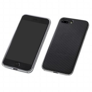 Deff ケブラー & アルミケース UNIO ブラック/シルバー iPhone 8 Plus/7 Plus