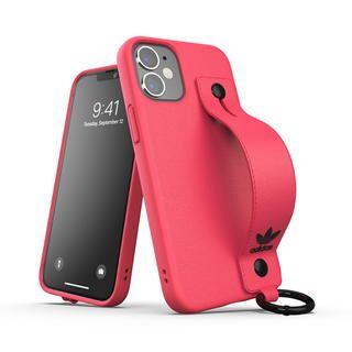 iPhone 12 mini (5.4インチ) ケース adidas Originals Hand Strap Case FW20 Signal Pink iPhone 12 mini
