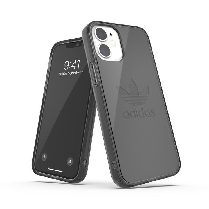 adidas Originals Protective Clear Case FW20 Smokey Black iPhone 12 mini【10月下旬】_0