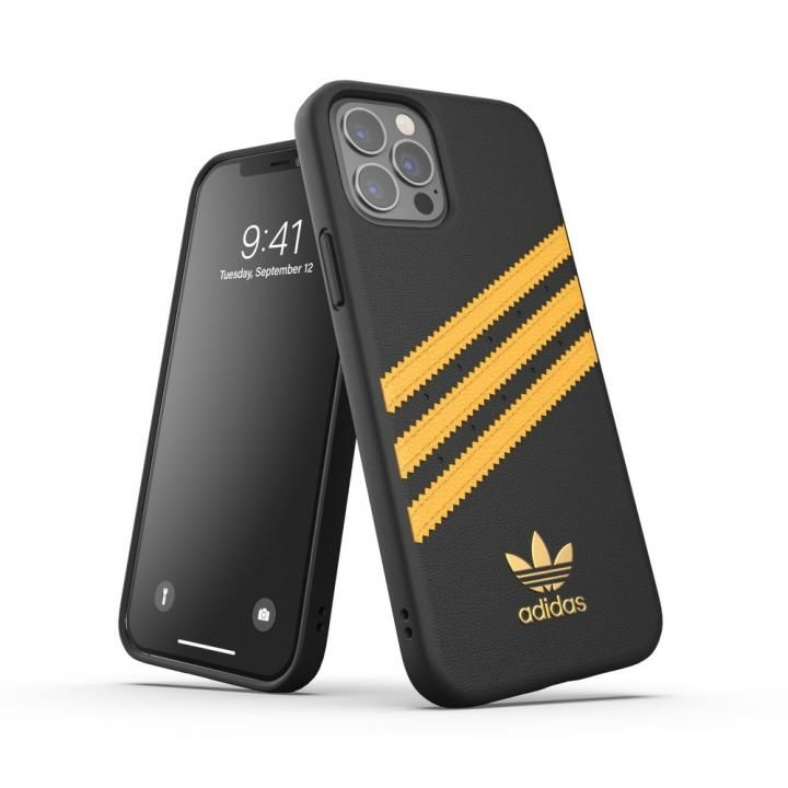 adidas Originals SAMBA FW20 Black/Gold iPhone 12/iPhone 12 Pro_0
