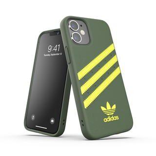 iPhone 12 mini (5.4インチ) ケース adidas Originals SAMBA FW20 Wild Pine/Acid Yellow iPhone 12 mini