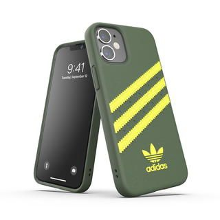 iPhone 12 mini (5.4インチ) ケース adidas Originals SAMBA FW20 Wild Pine/Acid Yellow iPhone 12 mini