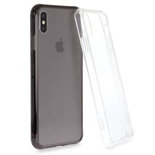 iPhone XS Max ケース Torrii TPUフレーム強化ガラスケース スモーク iPhone XS Max